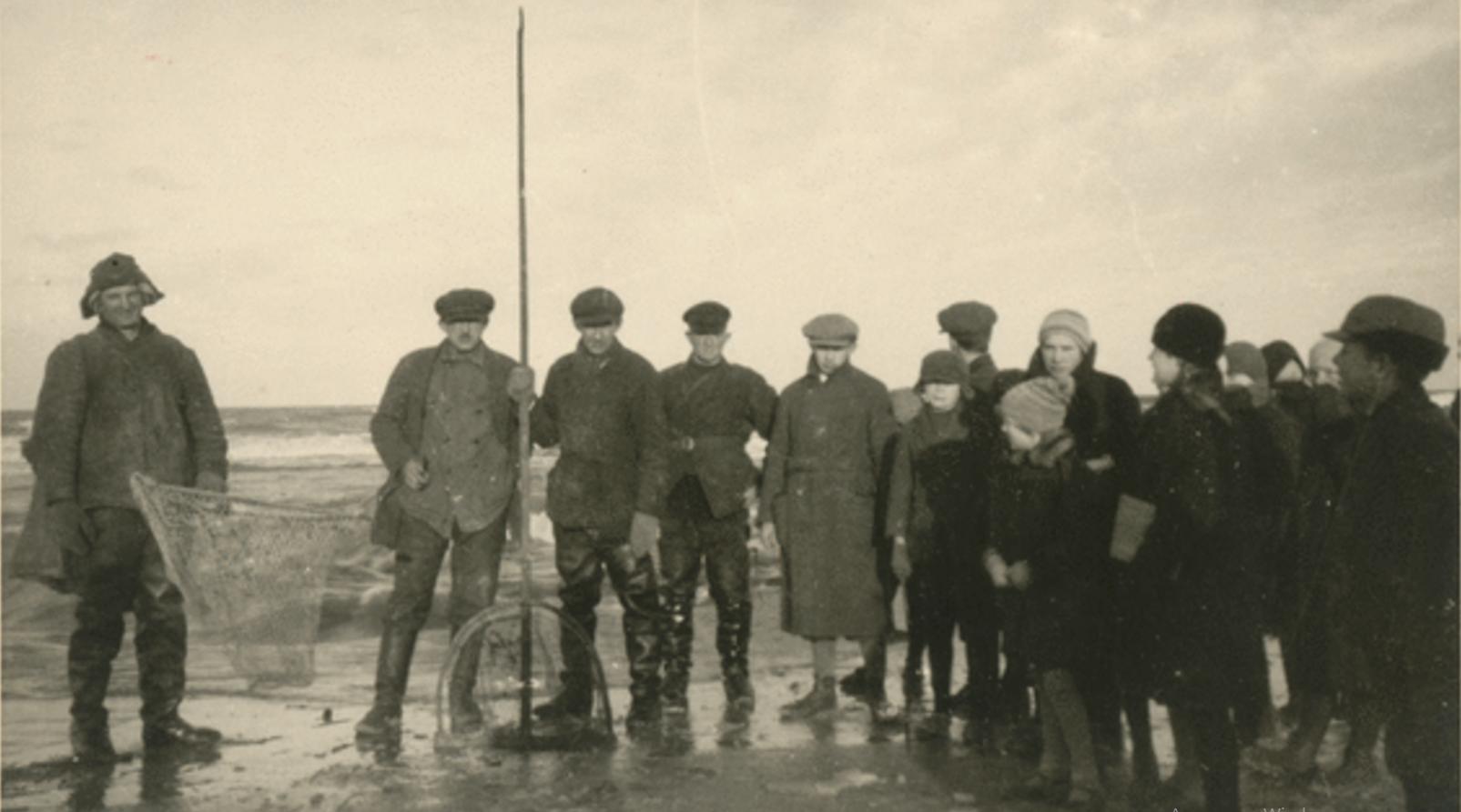 Собираем янтарь на побережье Балтийского моря после шторма